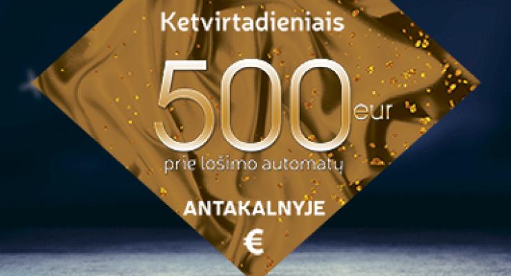 500 € lošiantiems prie lošimo automatų